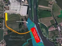 Platerforme portuaire pont-rouge Warneton